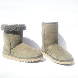Uggs Women's Classic Short Suede Green Boots 8
